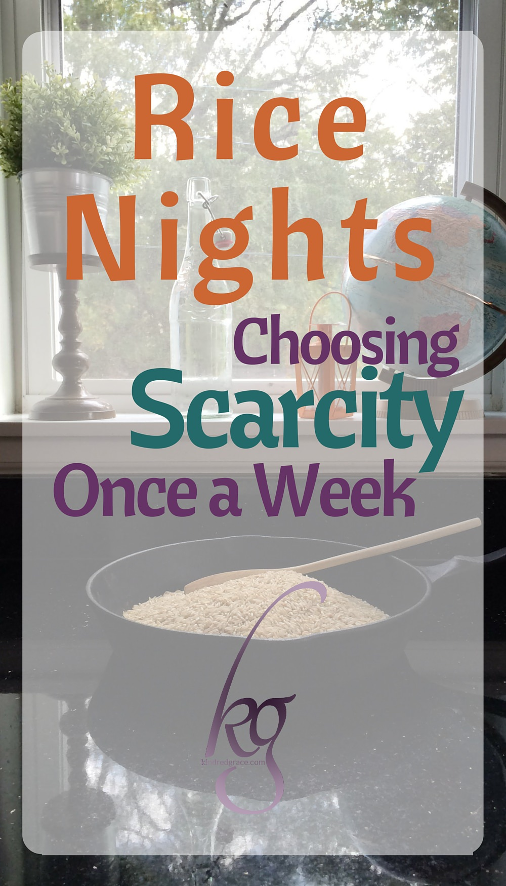 Our simple rice nights are unimportant in the grander scheme of world relief and poverty, yes, but it's a bit like fasting from our plenty: a small reminder that we have so much. via @KindredGrace