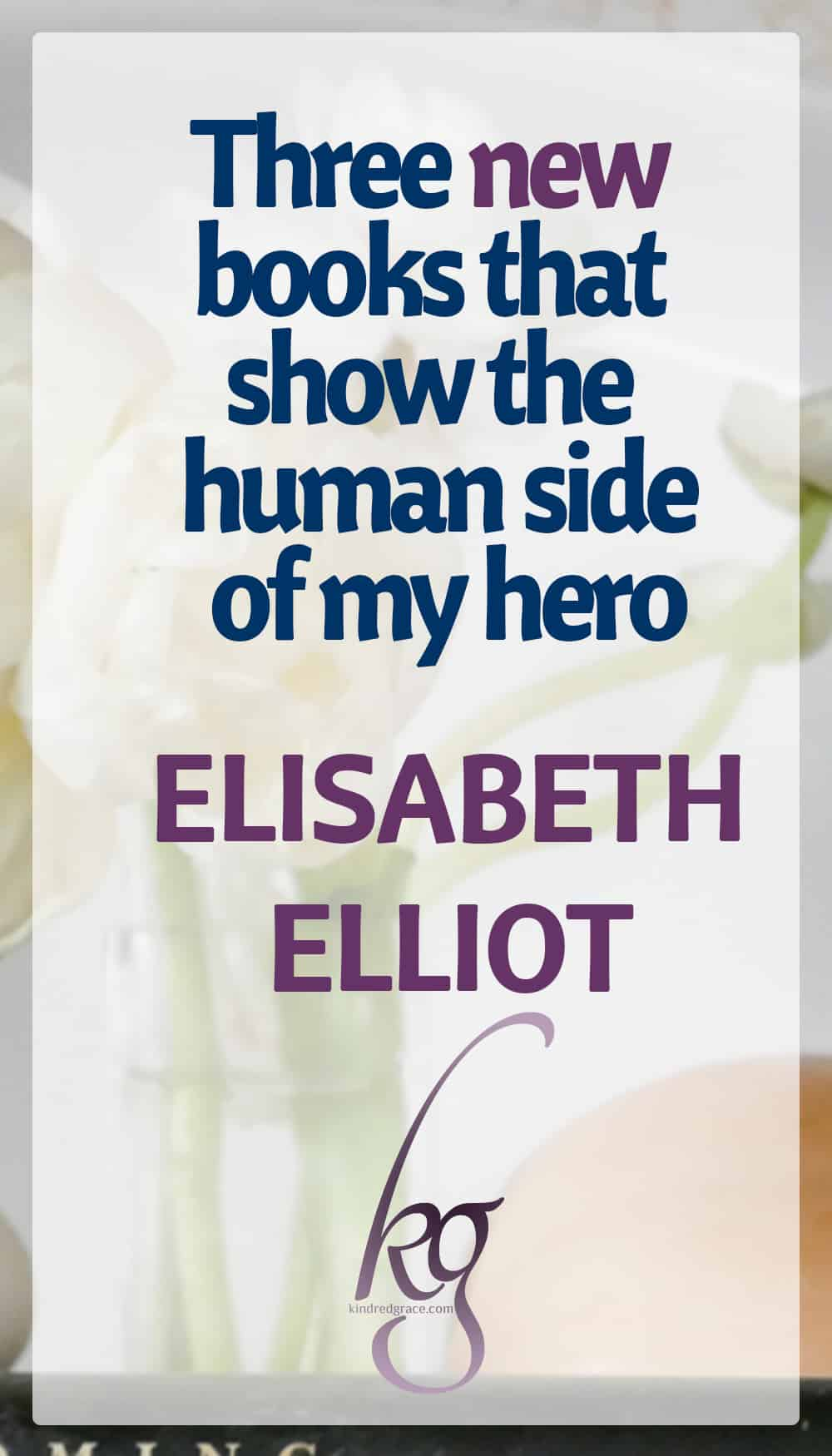 As writer who tends to tackle sorrow, loss, and hope, I keep discovering how Elisabeth Elliot's thoughts have cropped up unconsciously in my own work. No wonder I leaped at the chance to review her three newest books. One distilled the essence of all her books into a perfectly simple introduction. The other two introduced me to the very human side of my hero in a way that only grew my faith. via @KindredGrace