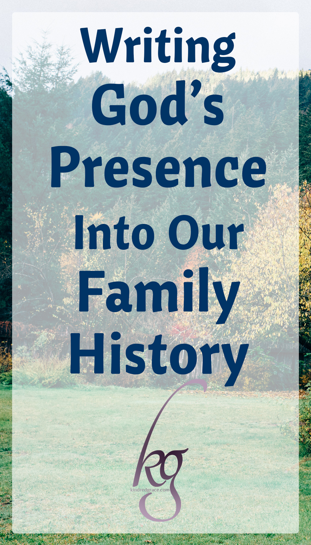 Here is the trick with our heritage: there's more than just the good that passes down. While I received rich spiritual nourishment that settled my roots down deep, along with the good comes a history of brokenness. via @KindredGrace